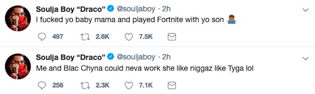 Soulja Boy To Tyga: