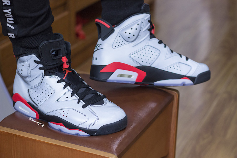 "a8307522dbbd Air Jordan 6 ""Reflective Infrared"" On-Foot Images Revealed"