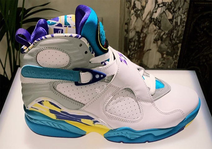 "Air Jordan 8 ""White Aqua"" Release Details Announced"