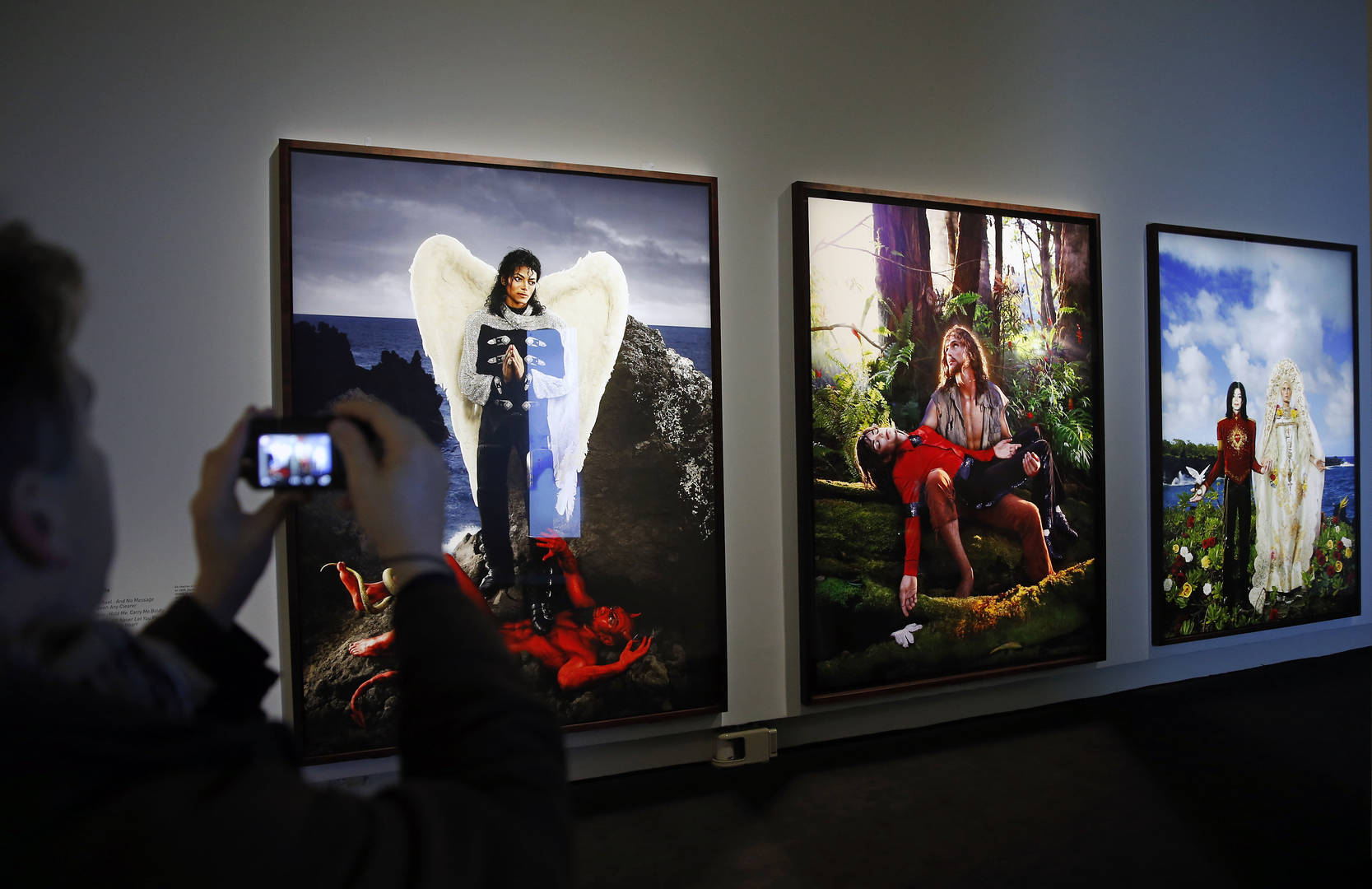 Michael Jackson Art Exhibit Includes Painting Of Singer Carried By Jesus