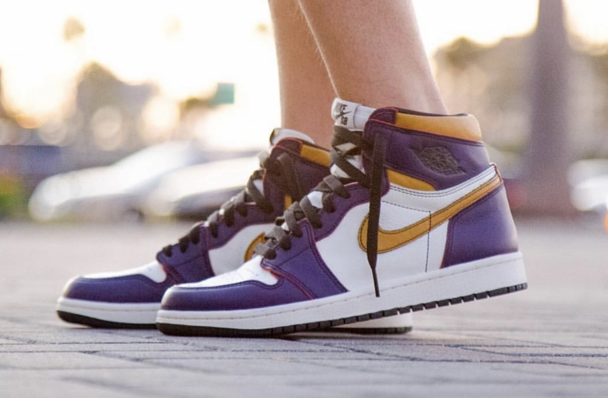 """Lakers"" Nike SB x Air Jordan 1 Features Hidden Chicago Bulls Detailing"