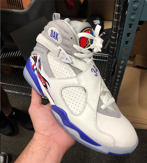 "OVO x Air Jordan 8 ""Charles Oakley"" PE Resurfaces: New Images"