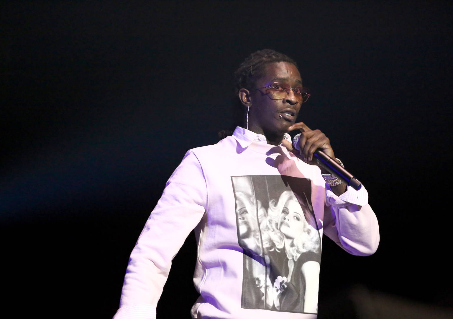 """Young Thug Proudly Shows Off His Gucci """"Blackface"""" Mask"""