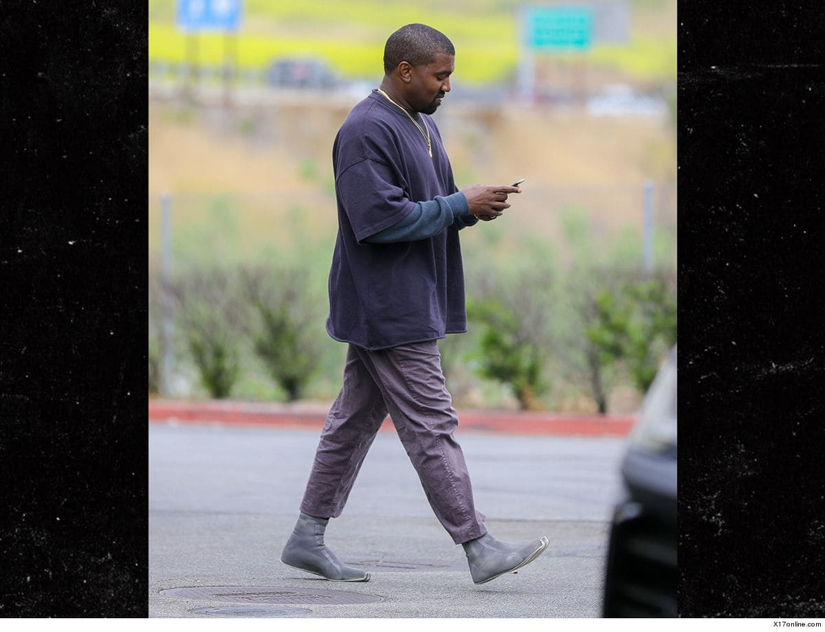Kanye West Steps Out In Unreleased Sock-Like Prototype: Photos