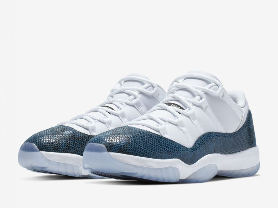 "Air Jordan 11 Low ""Blue Snakeskin"" Drops Today: Purchase Links"
