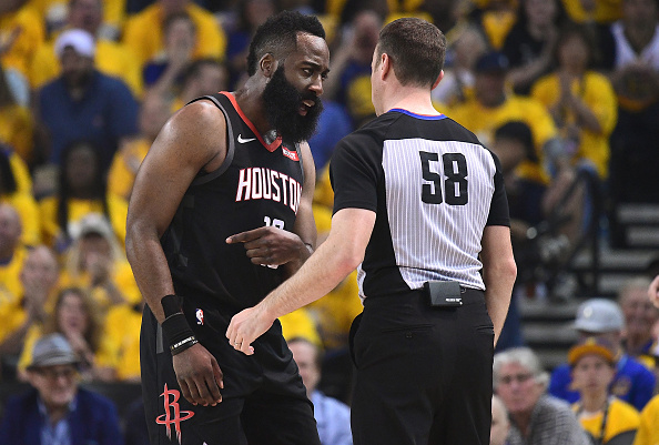 d5d4ff41b95 A flopping Steve Kerr smiles way through subtle James Harden digs