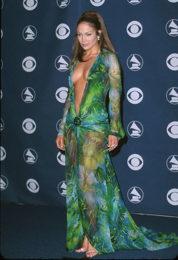 Jennifer Lopez's 2000s Grammy Versace Dress Is What Inspired Launch Of Google Images