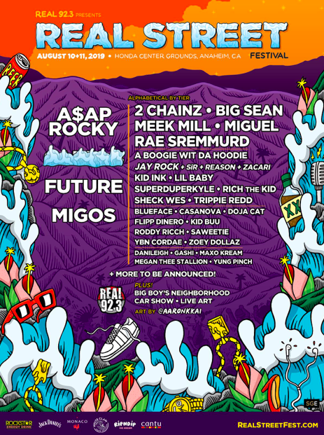 A$AP Rocky, Future & Migos Announced As Headliners For Real Street Festival