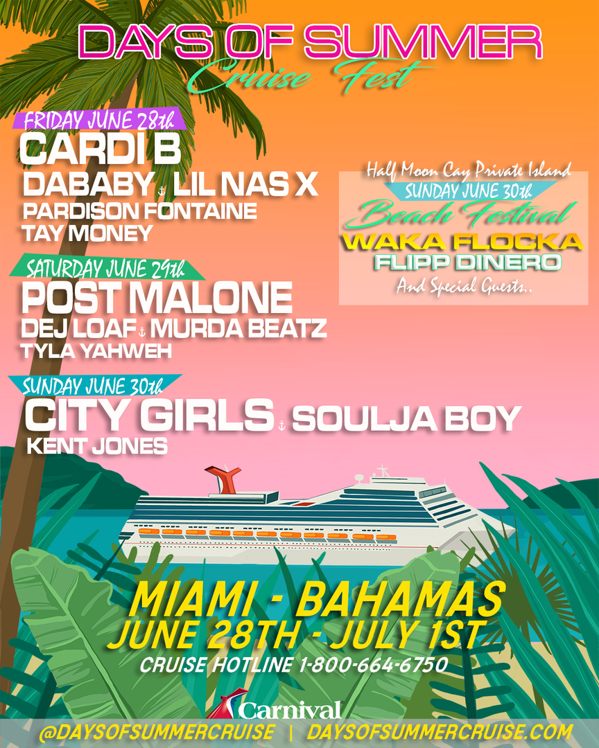 DJ Khaled's Days Of Summer Cruise Announces Line-Up; Post Malone, Soulja Boy, Cardi B & More