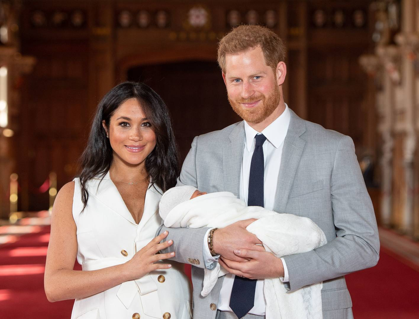 """Will Smith Shares Hilarious """"Fresh Prince"""" Royal Baby Meme For Harry & Meghan"""