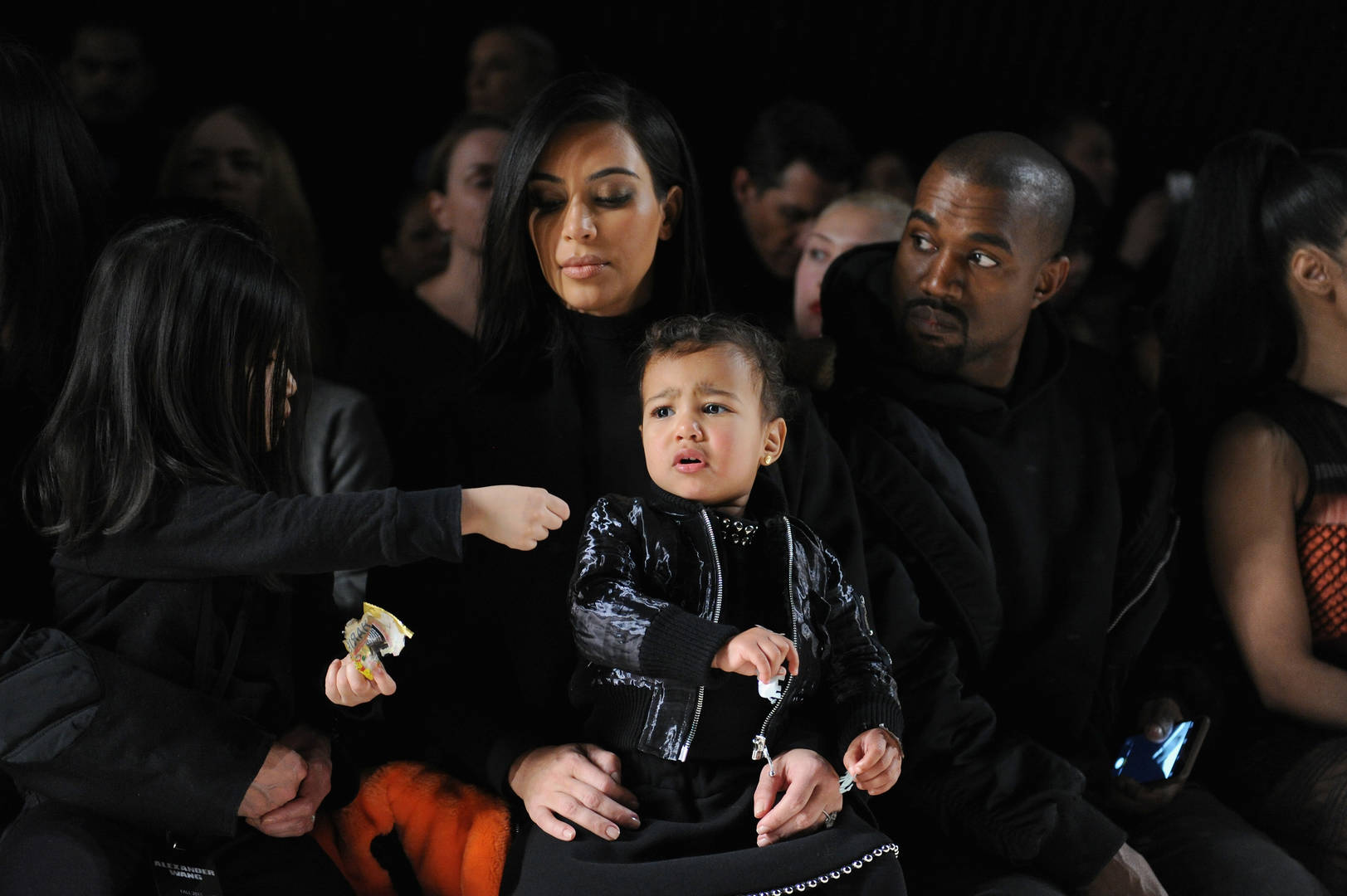 Kanye West's Children North & Saint West Sing At Sunday Service