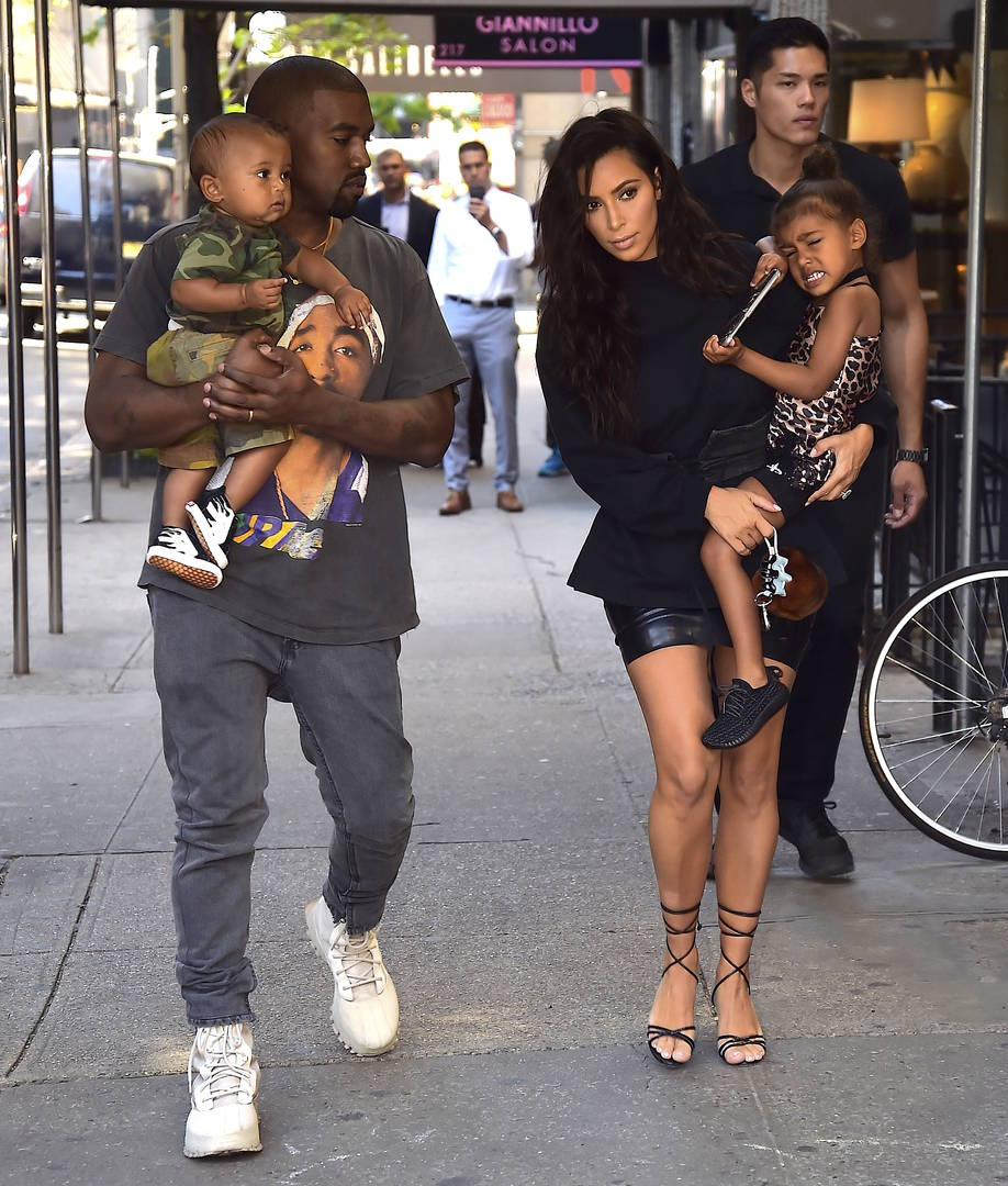 """Kim & Kanye West Very """"Hands On"""" With Newborn Son, Have Little """"Help"""""""