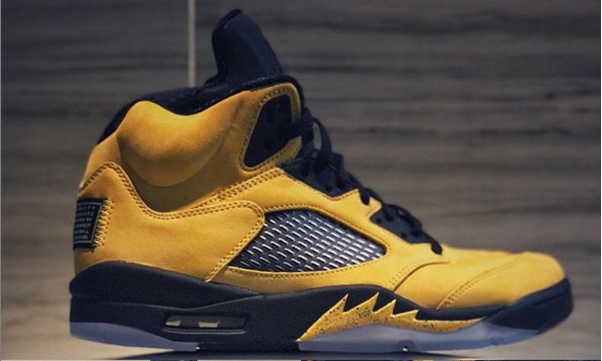 "Air Jordan 5 ""Michigan"" Dropping This Summer: First Look"