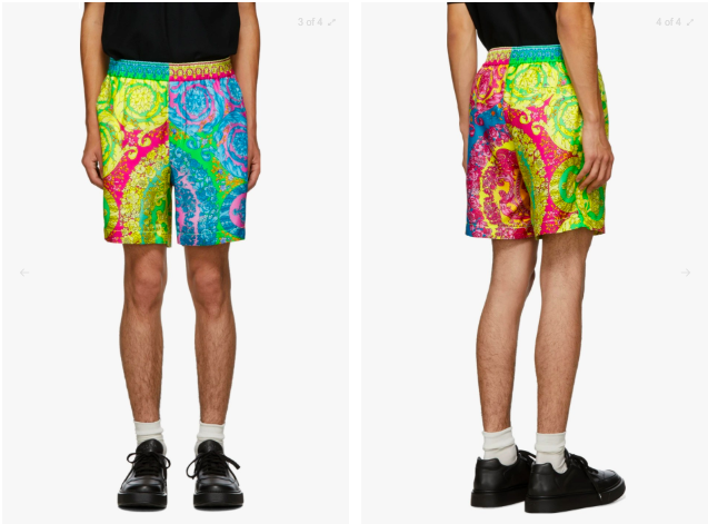 Check Out Versace's Crazy New Psychedelic-Coloured Baroque Beach Shorts