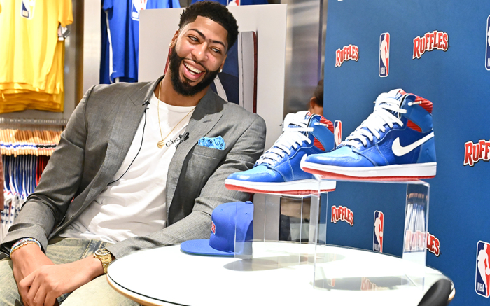 Anthony Davis Reveals Custom Nike x Ruffles Sneaker Collab