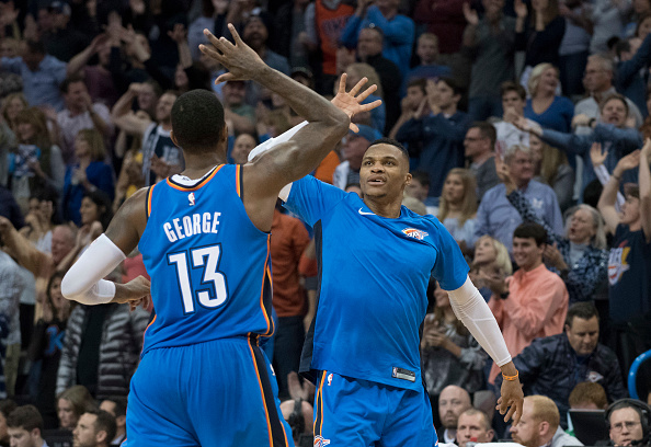 """Paul George Joins Jalen Rose In Defending Against """"Russell Westbrook Criticism"""""""