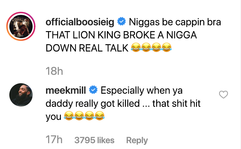 Boosie Goes Off About How Lion King Brought Him To Tears, Meek Mill Co-Signs