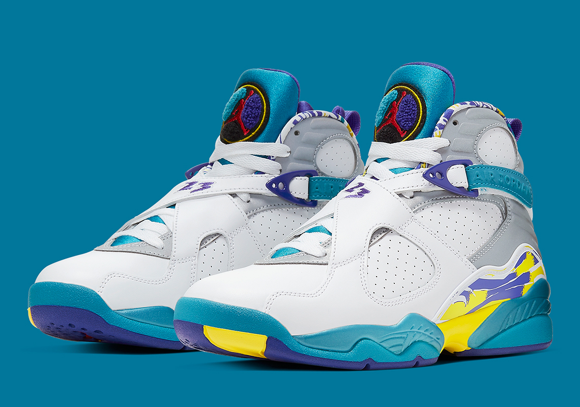 "Air Jordan 8 ""White Aqua"" Returns Today: Purchase Links"