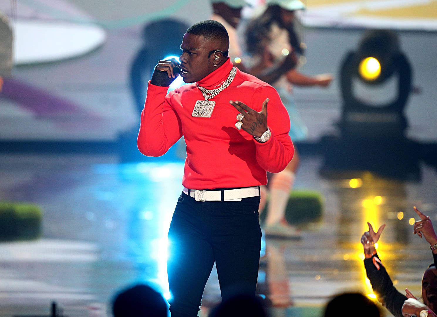 DaBaby Hits Studio With Gucci Mane & Chance The Rapper