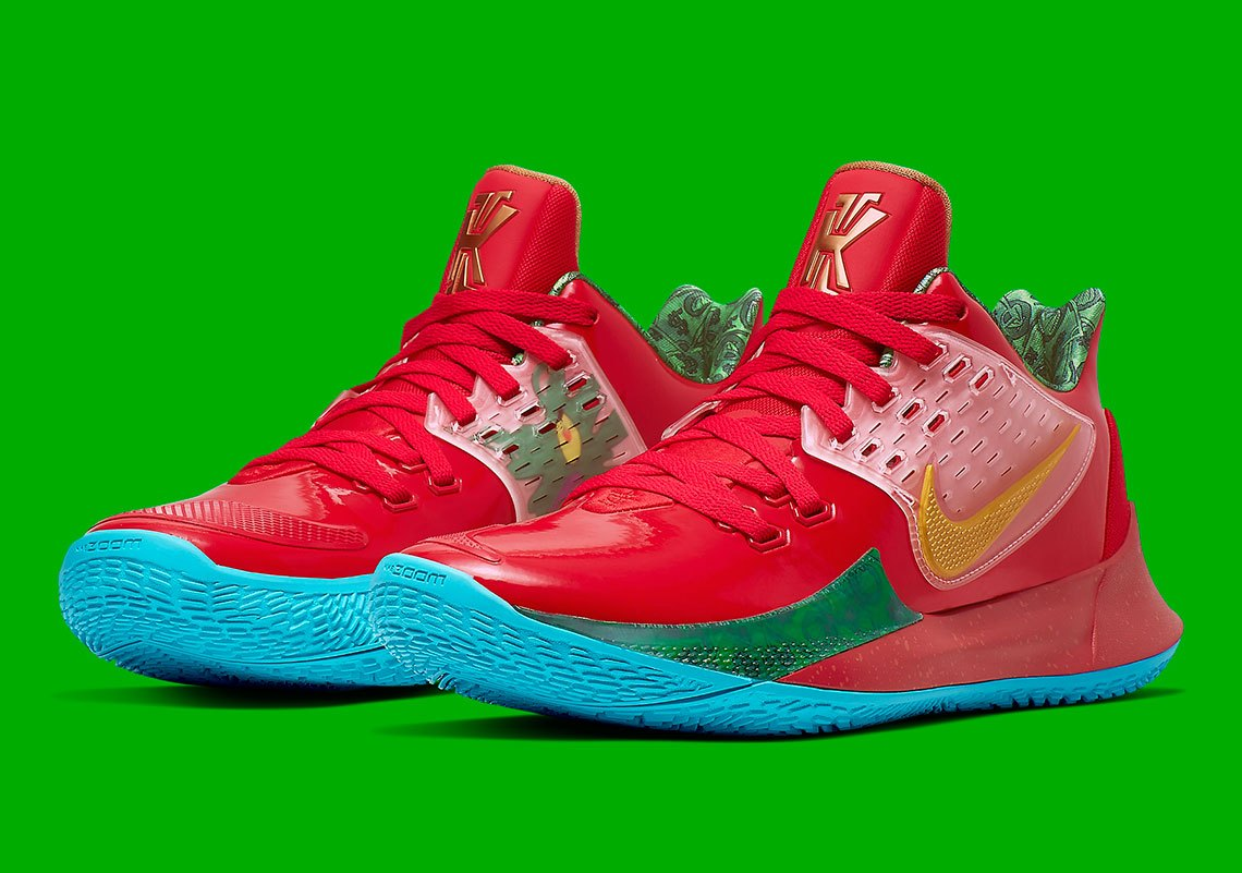 "Kyrie Irving Shows Off ""Mr Krabs"" Nike Kyrie Low 2: Video"