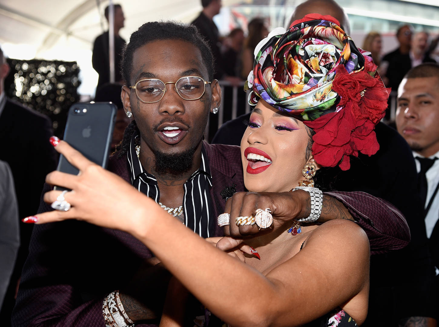 Offset Can't Keep Cardi B Out Of His Mouth In PDA Instagram Share