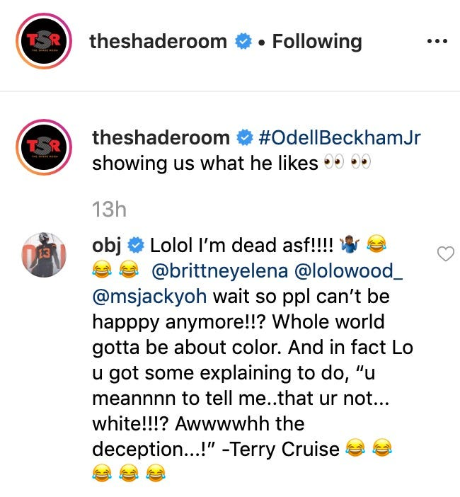 Odell Beckham Jr. Claps Back At Trolls Hating On His Relationship With LoLo Wood