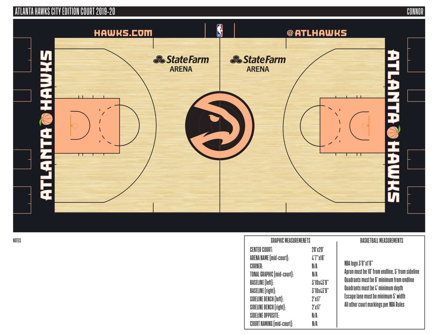 "Atlanta Hawks New ""City Edition"" Court Nods To The Peach State: First Look"