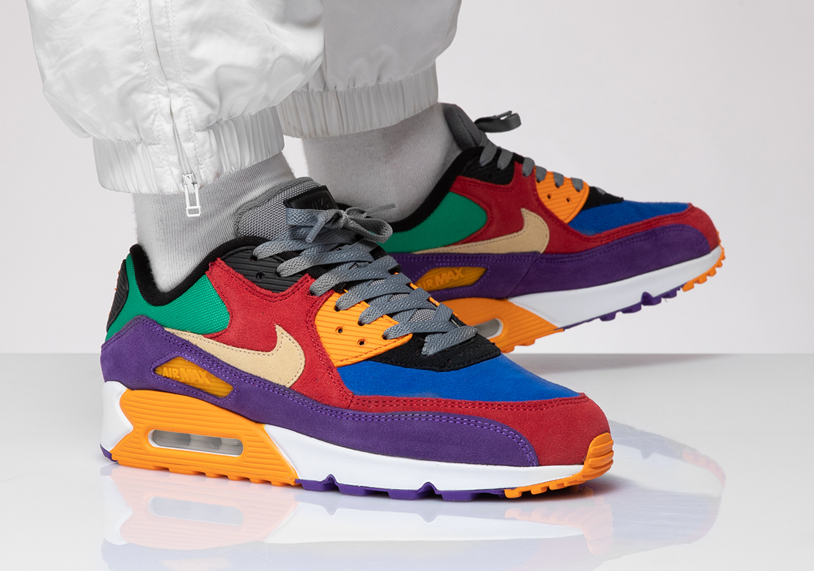 "Nike Air Max 90 ""Viotech"" Drops Today: Purchase Links"