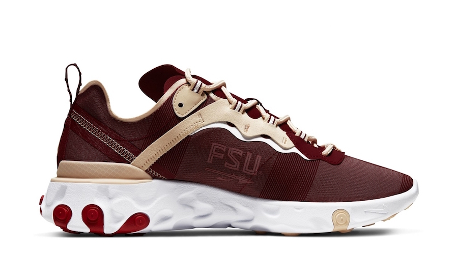 "Nike React Element 55 ""Florida State"" Coming Soon: Official Images"
