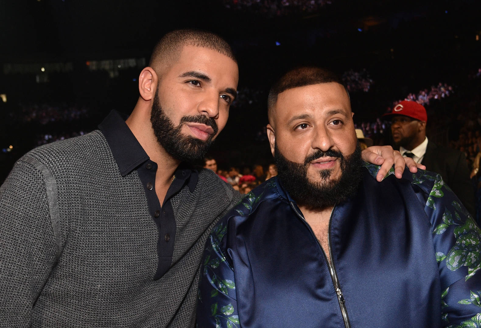 Drake & DJ Khaled Post Up With Matching Beards & Gazes