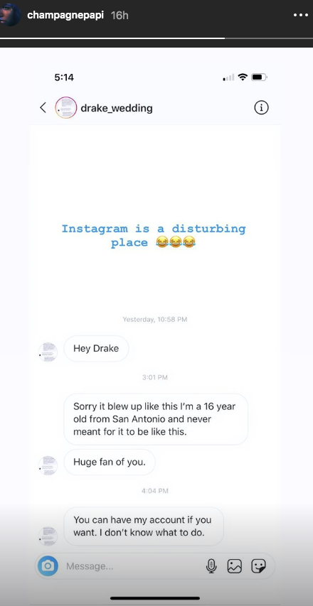 Drake Exposes Instagram Wedding Page As A Fraud