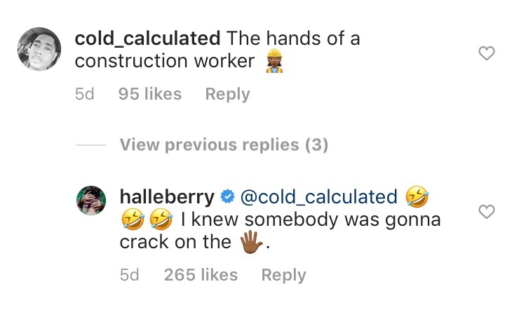 Halle Berry Responds To Troll On Instagram Who Dissed Her Hands