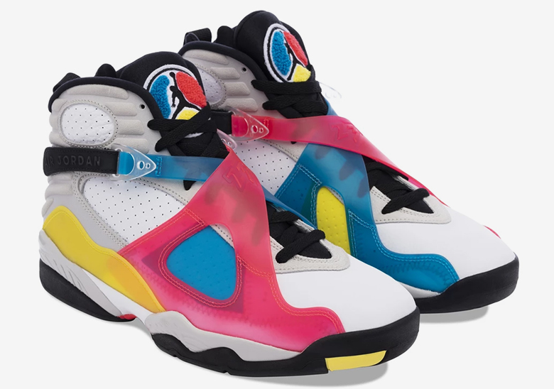 Air Jordan 8 Launches In Wild Colorway Exclusively At Dover