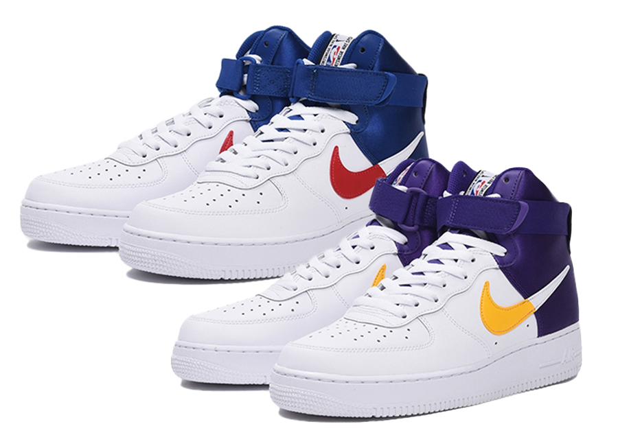 half off 9f5b8 9ba05 Lakers & Clippers Themed Nike Air Force 1 Highs Coming Soon ...
