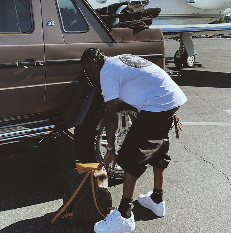 Travis Scott Shows Off New CPFM x Nike Air Force 1 Collab