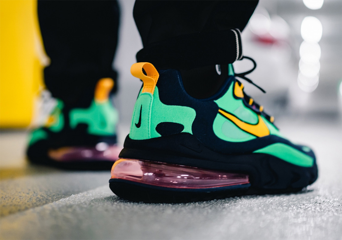 Nike Air Max 270 React Yellow Green |