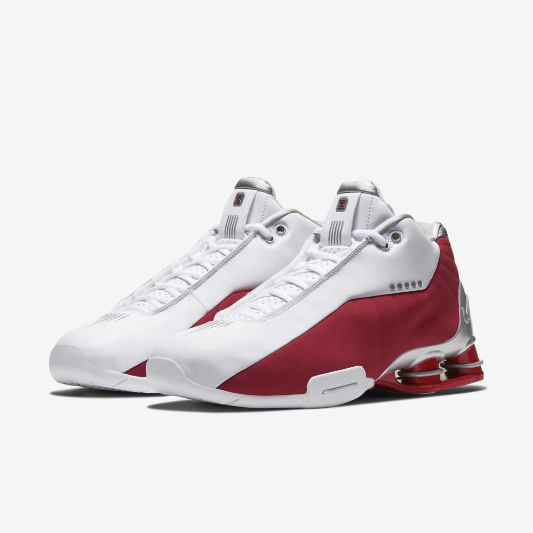 "Vince Carter's Nike Shox BB4 Releasing In ""White/Varsity Red"" Colorway"