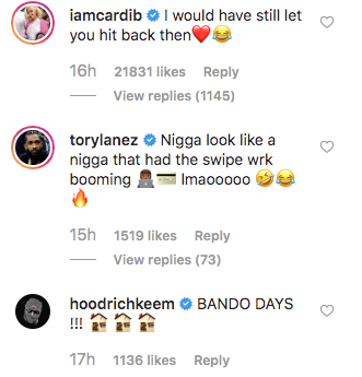 Offset's Throwback Photo Roasted By Tory Lanez; Cardi B Lusts Over It
