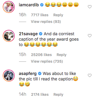 """21 Savage Roasts Offset For Writing """"Corniest Caption Of The Year"""""""