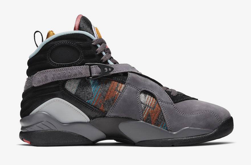 "Air Jordan 8 ""N7"" Gets Super Cozy With Pendleton Wool Detailing: Official Photos"