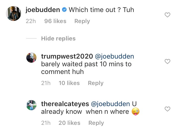 Joe Budden & His New Girl Get Flirtatious In IG Comments Section