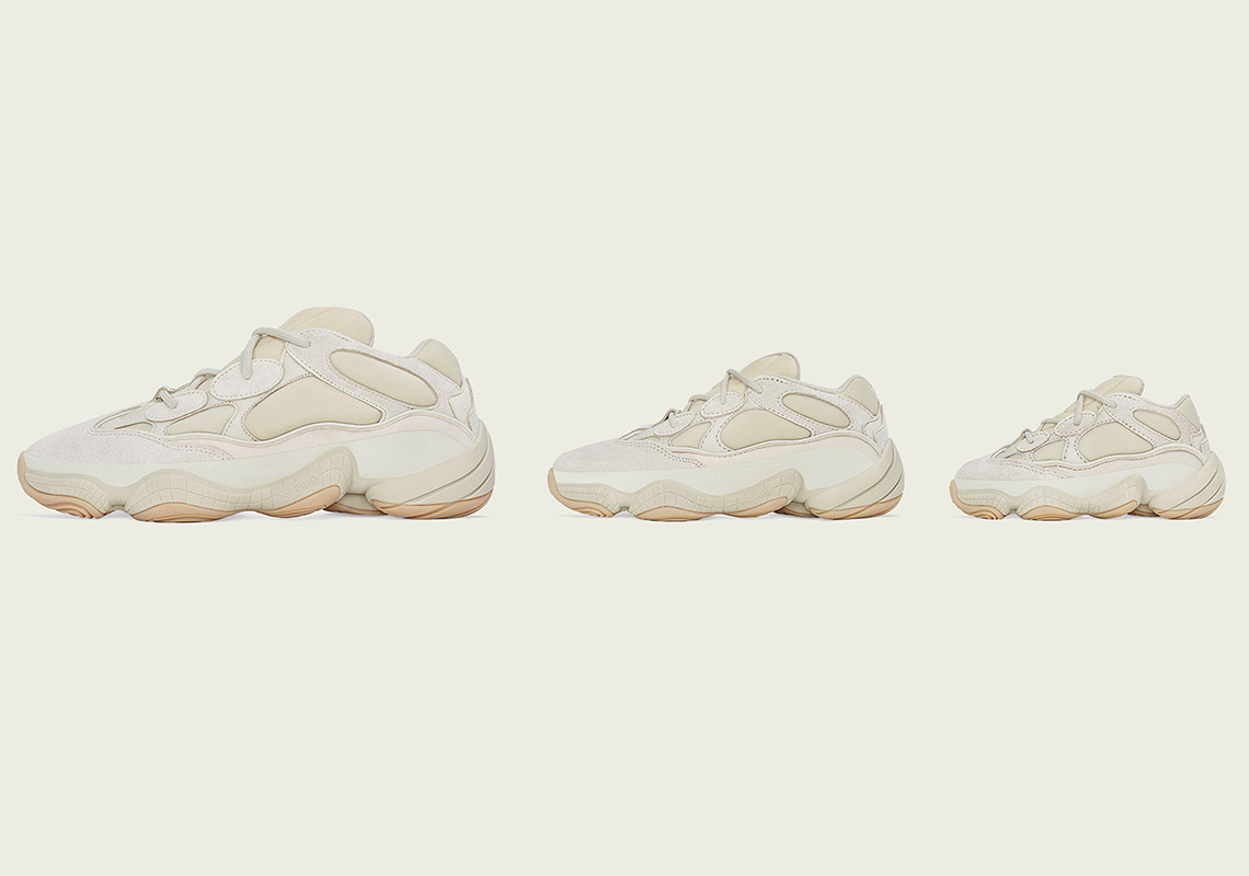 """Adidas Yeezy 500 """"Stone"""" Releasing In Sizes For The Whole Fam: Details"""