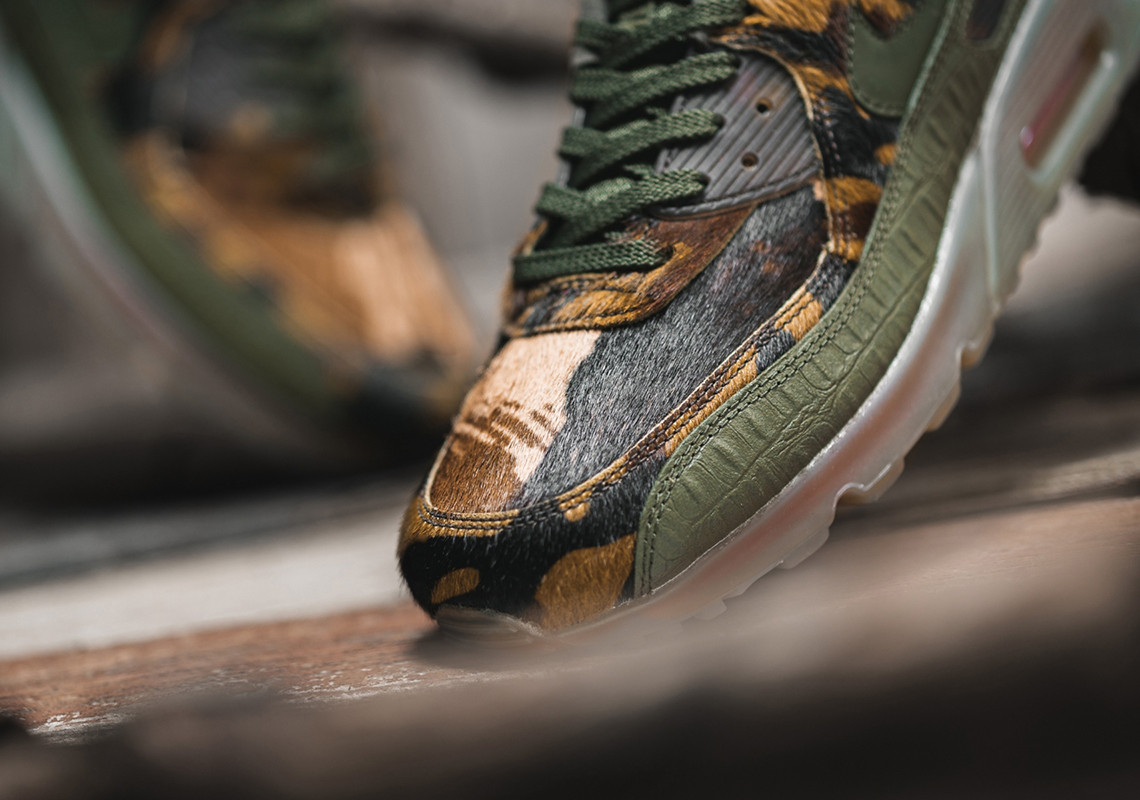 "Nike Air Max 90 Arrives In Exotic ""Croc Camo"" Design: Release Info"