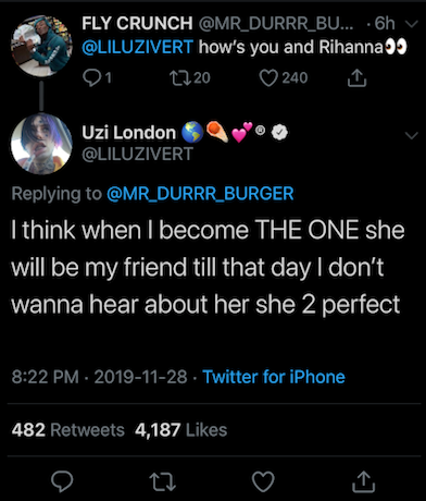 """Lil Uzi Vert Waiting For Rihanna To Realize He's """"The One"""" For Her"""