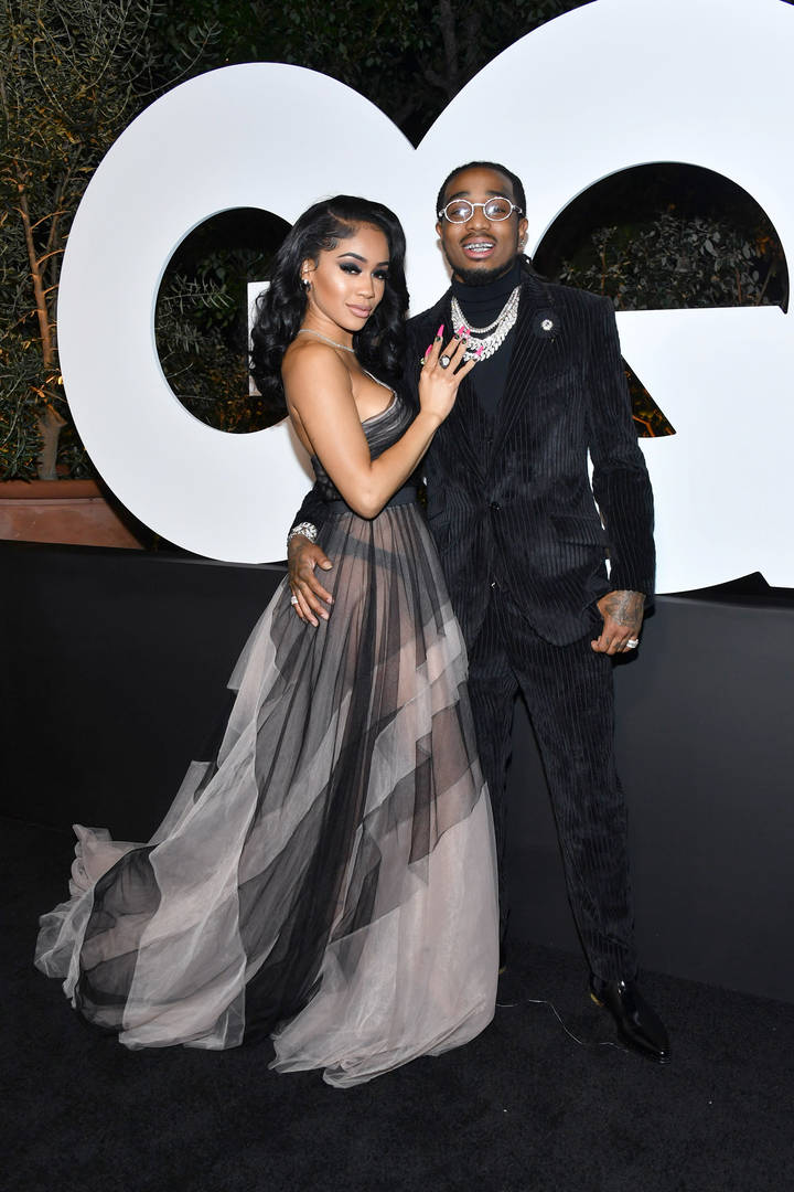 Saweetie & Quavo Slay The Red Carpet Together At GQ Men Of The Year