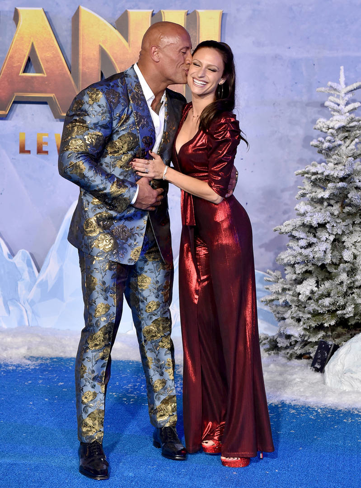 Dwayne Johnson His Wife Add Some Sparkle To Jumanji The