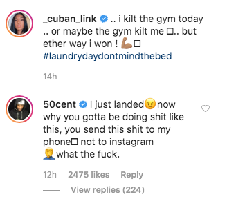 """50 Cent Scolds His GF For Thirst Trap: """"Why You Gotta Be Doing Sh*t Like This"""""""