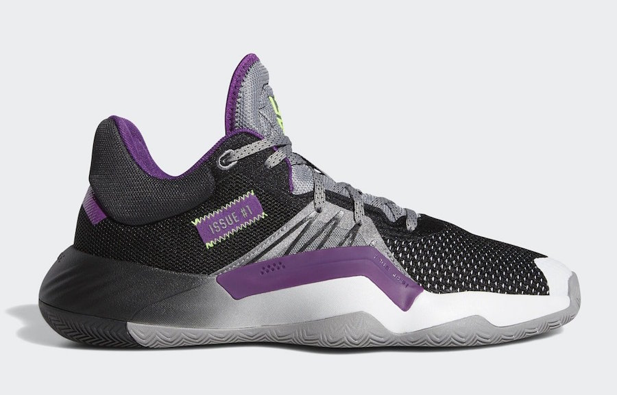 "Donovan Mitchell's Adidas D.O.N Issue #1 Releasing In ""Joker"" Colorway"