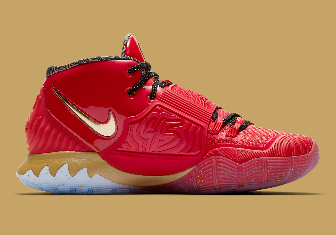 """Kyrie Irving's """"Trophies"""" Nike Kyrie 6 Pays Homage To The Bulls' 1996 Title"""