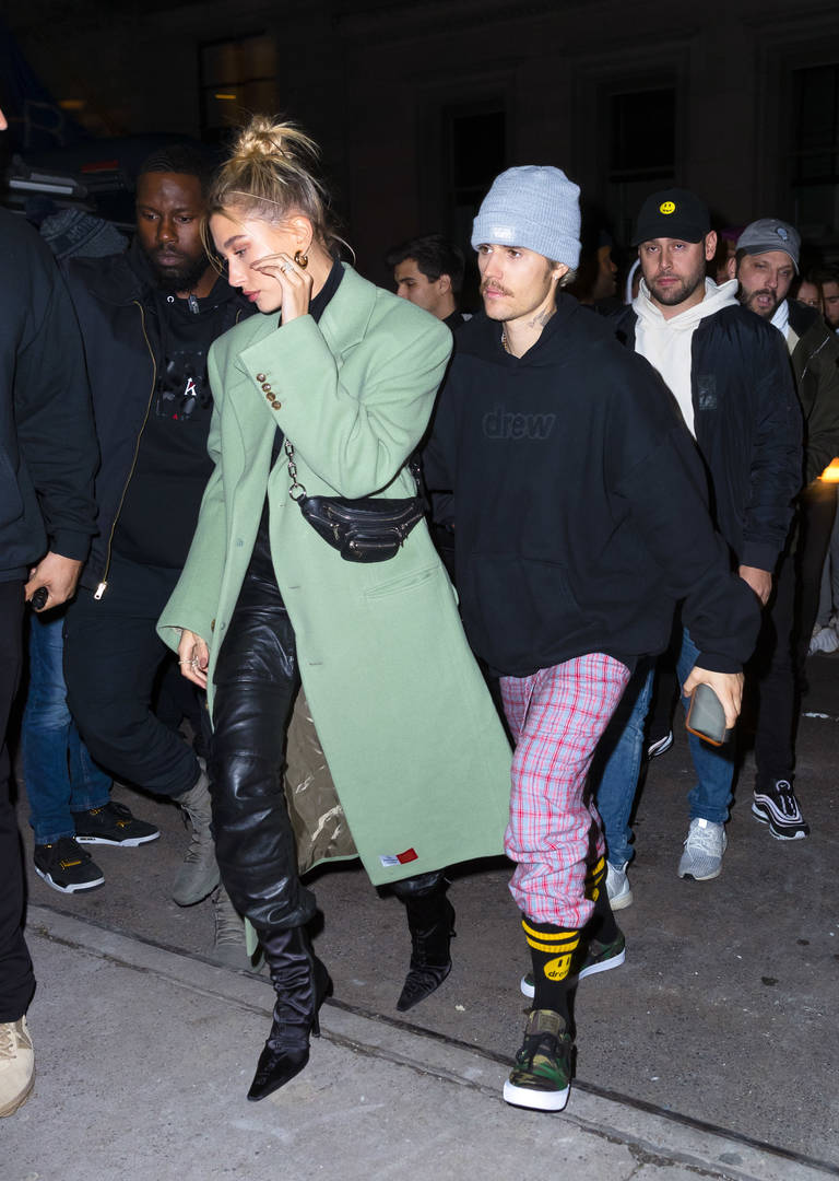 "Justin Bieber Parties With Quavo & Wife Hailey In NYC After ""SNL"" Performance"